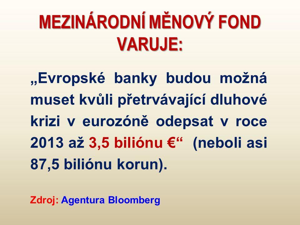 Mezinárodní měnový fond varuje: