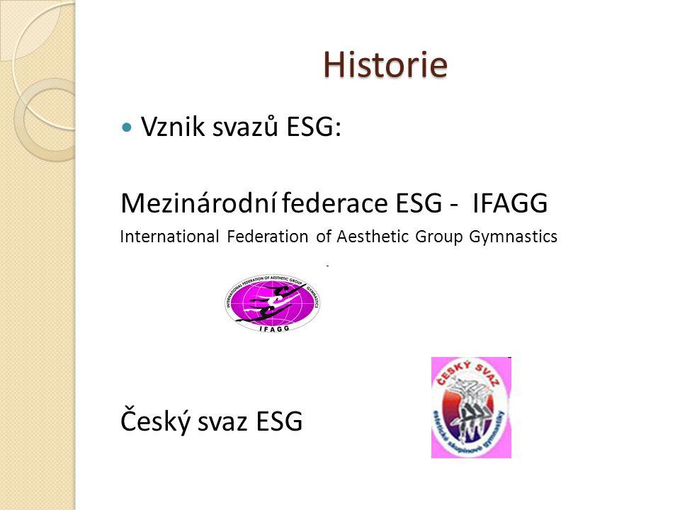 Historie Vznik svazů ESG: Mezinárodní federace ESG - IFAGG