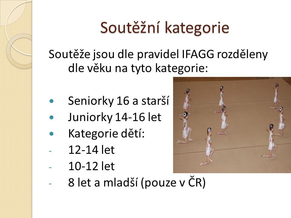 Soutěžní kategorie Soutěže jsou dle pravidel IFAGG rozděleny dle věku na tyto kategorie: Seniorky 16 a starší.