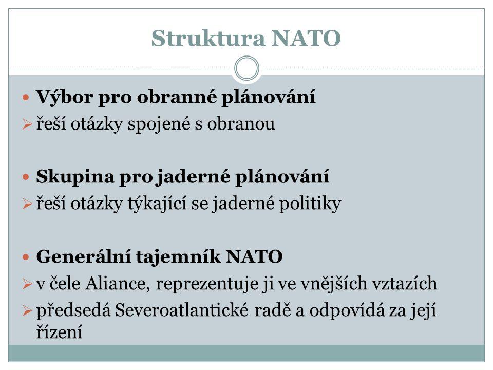 Struktura NATO Výbor pro obranné plánování