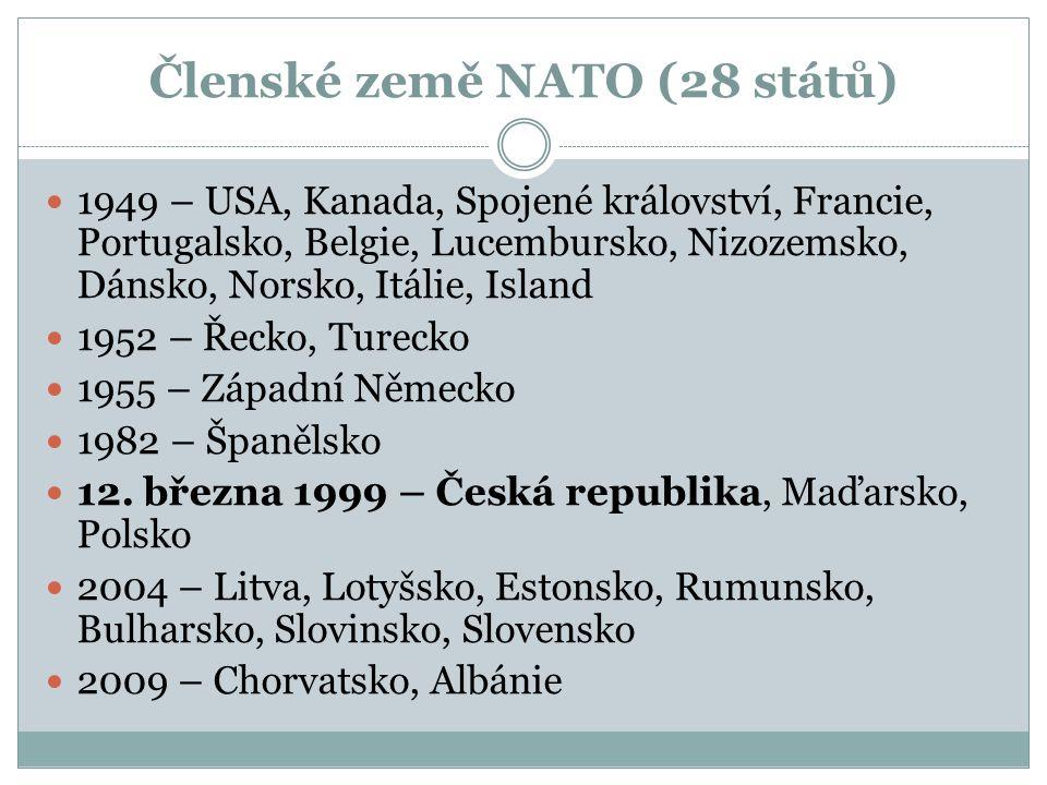 Členské země NATO (28 států)