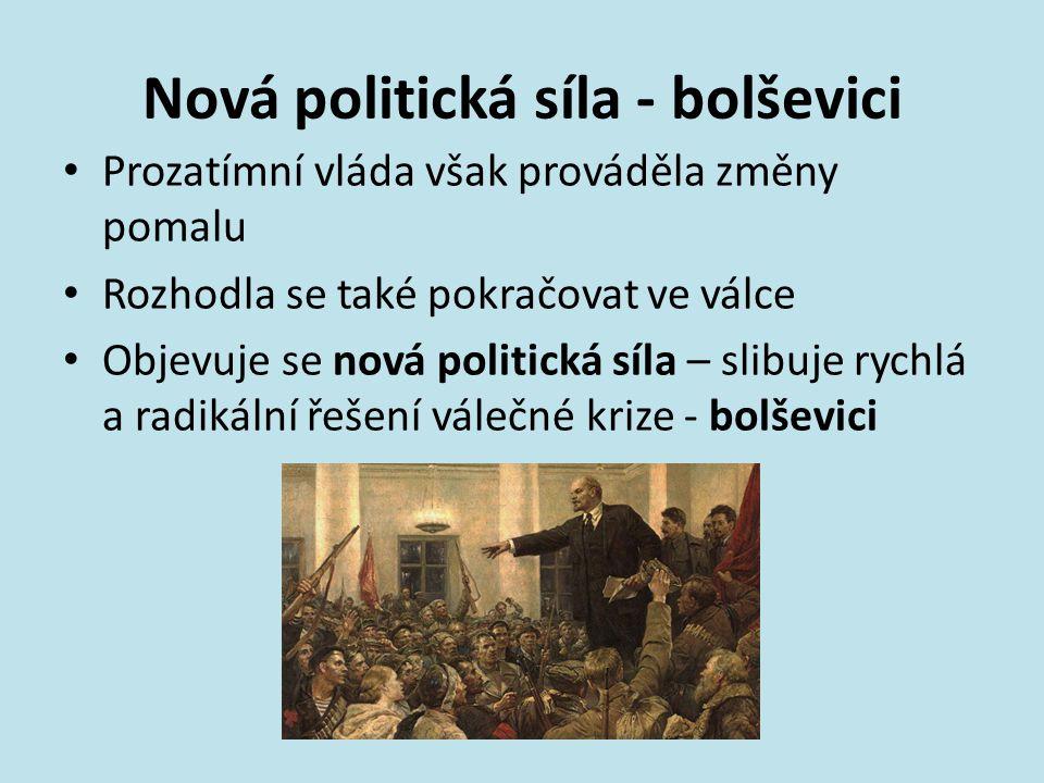 Nová politická síla - bolševici