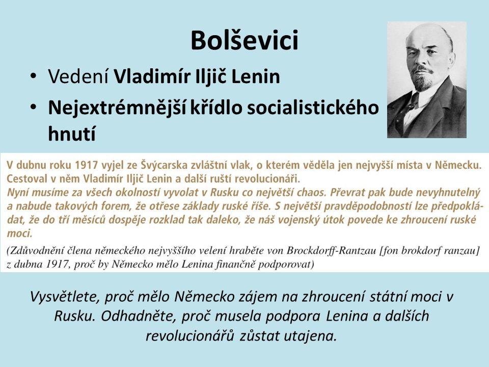 Bolševici Vedení Vladimír Iljič Lenin