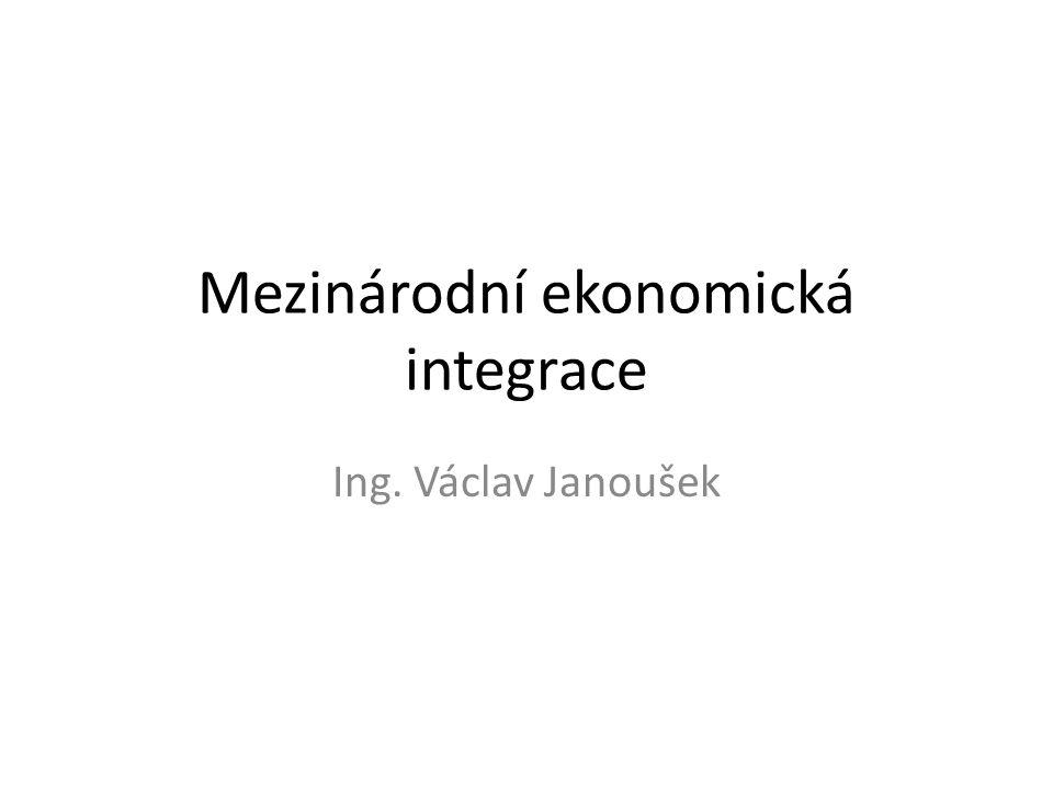 Mezinárodní ekonomická integrace