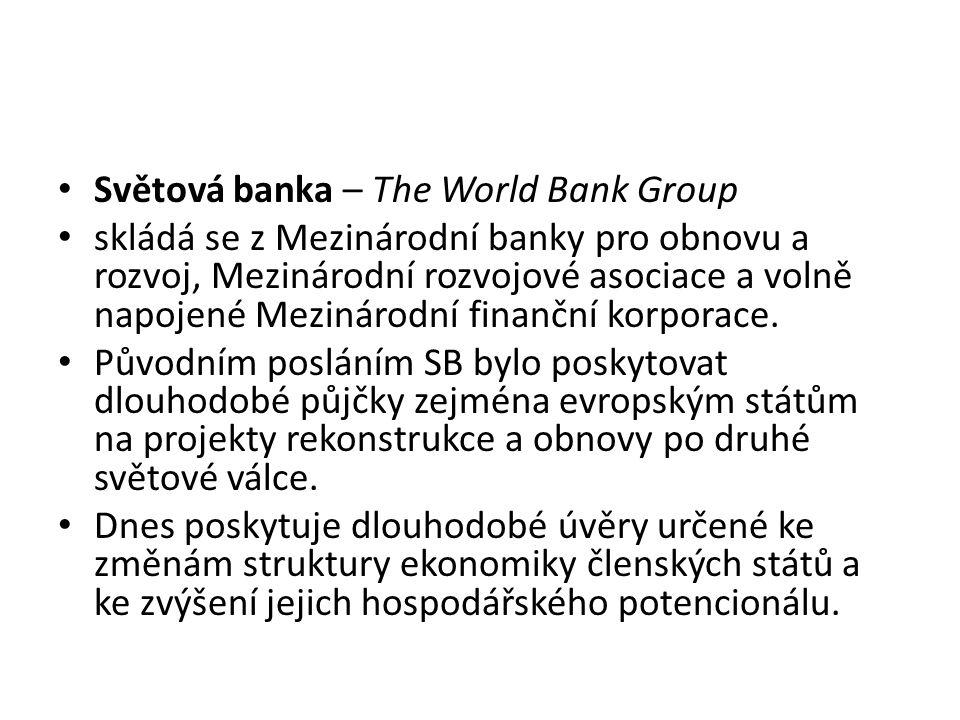 Světová banka – The World Bank Group