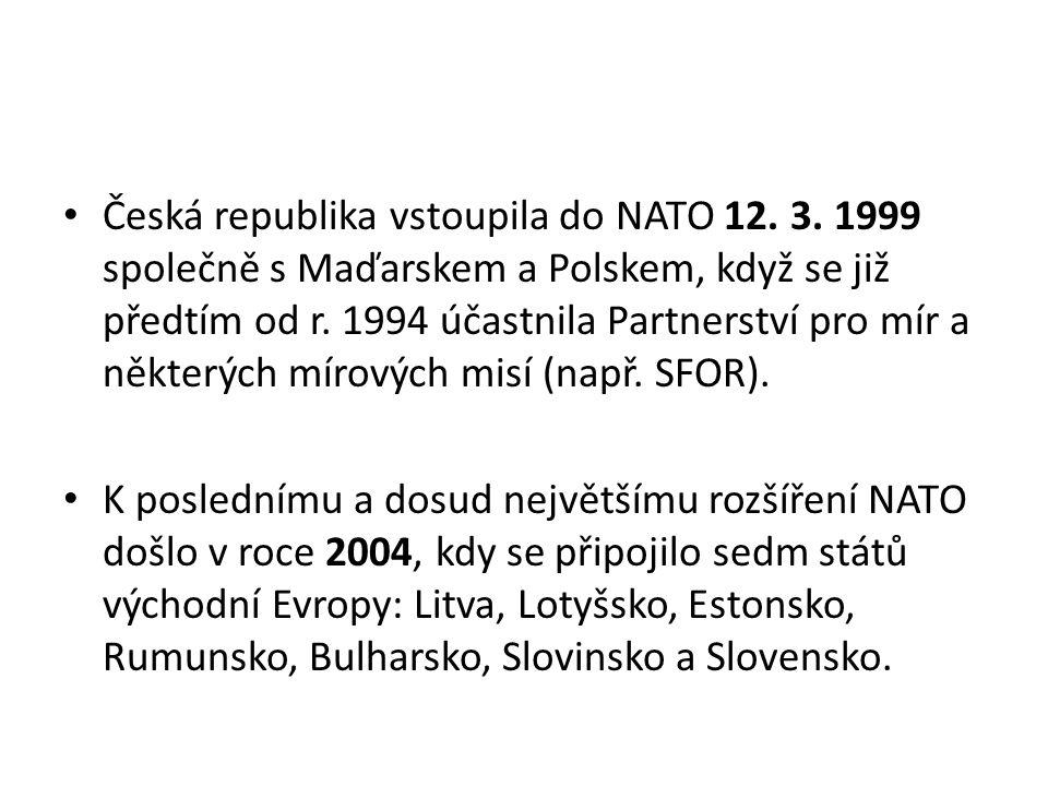 Česká republika vstoupila do NATO 12. 3