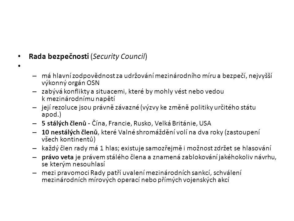 Rada bezpečnosti (Security Council)