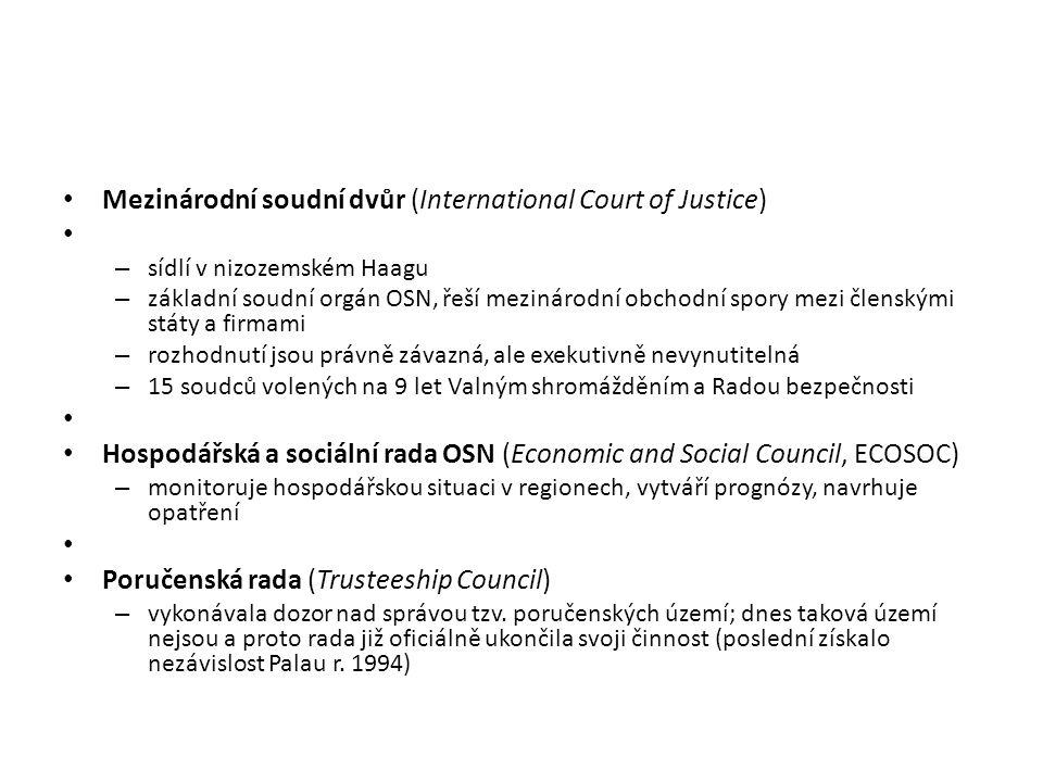 Mezinárodní soudní dvůr (International Court of Justice)