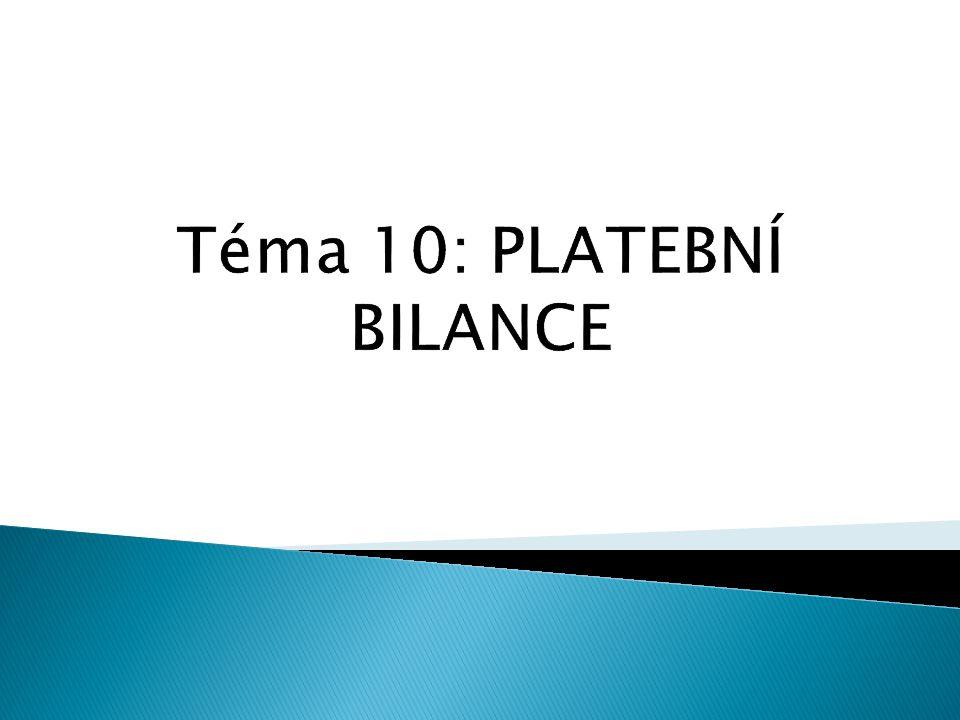 Téma 10: PLATEBNÍ BILANCE