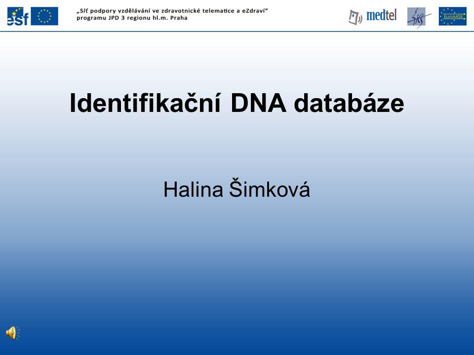 Identifikační DNA databáze