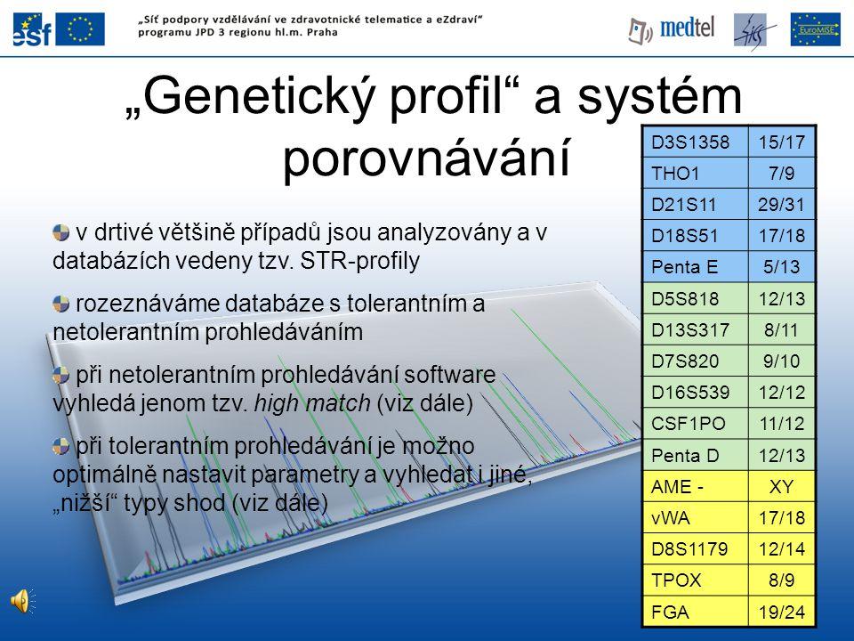 """""""Genetický profil a systém porovnávání"""