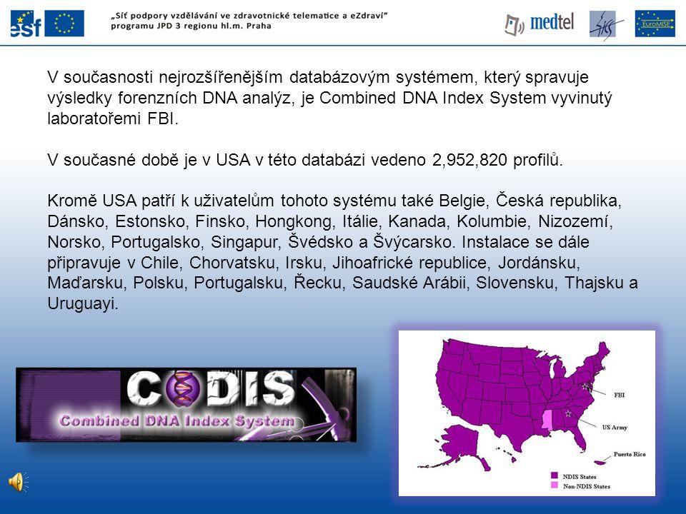 V současné době je v USA v této databázi vedeno 2,952,820 profilů.