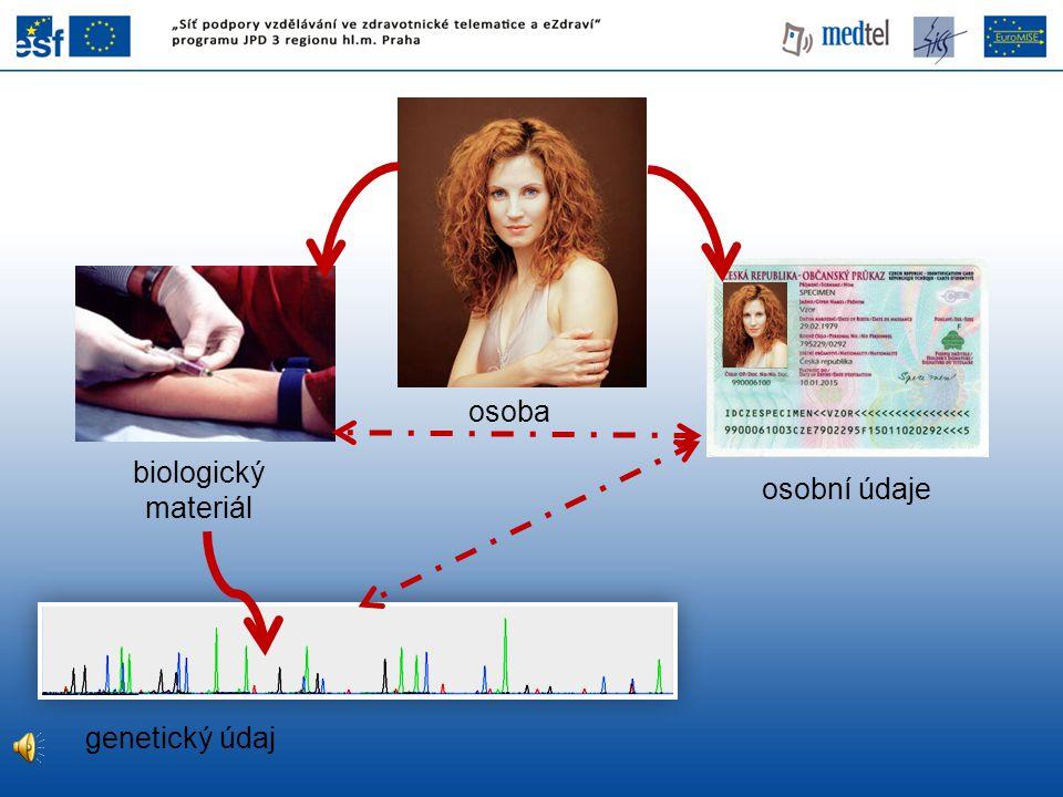 osoba biologický materiál osobní údaje genetický údaj 2