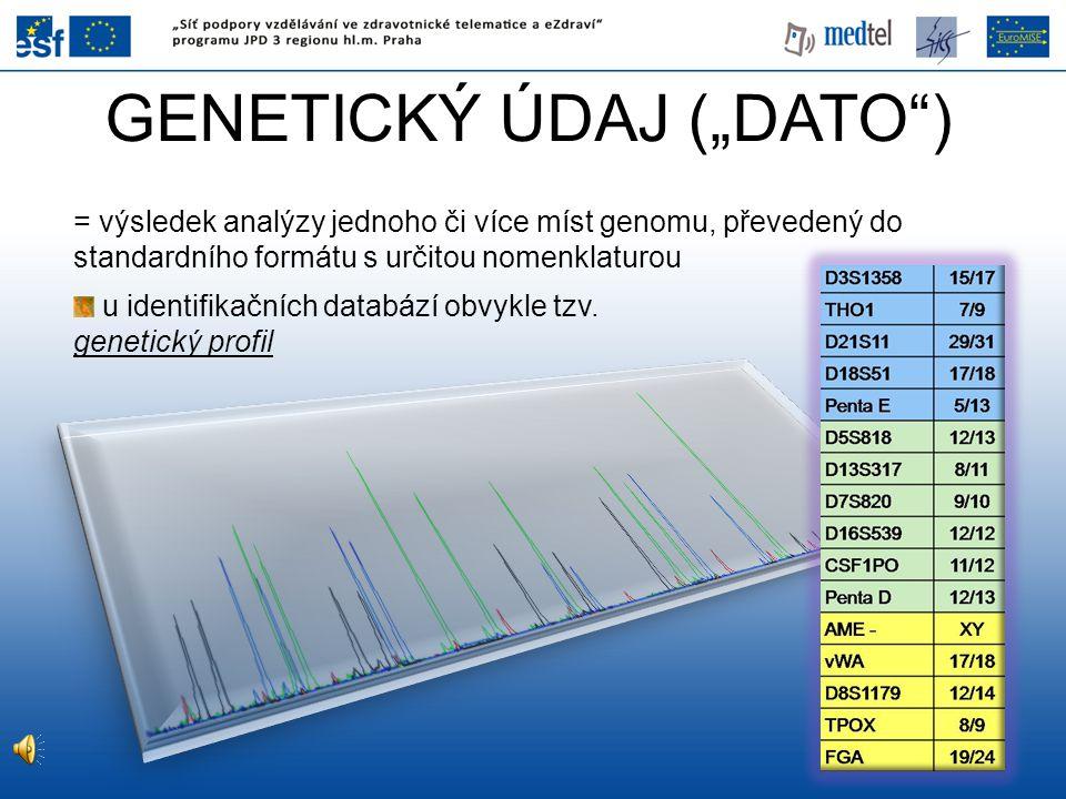 """GENETICKÝ ÚDAJ (""""DATO )"""