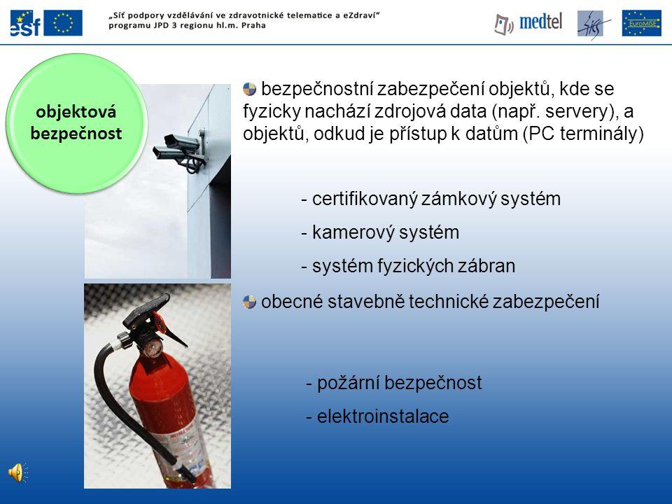 obecné stavebně technické zabezpečení certifikovaný zámkový systém