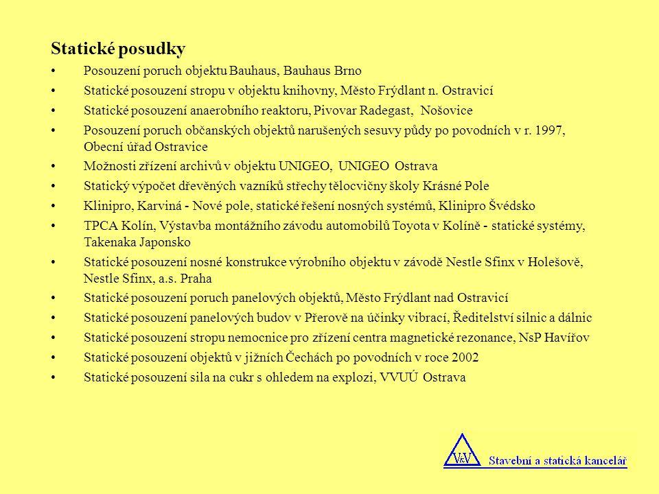 Statické posudky Posouzení poruch objektu Bauhaus, Bauhaus Brno