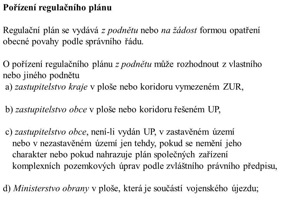 Pořízení regulačního plánu