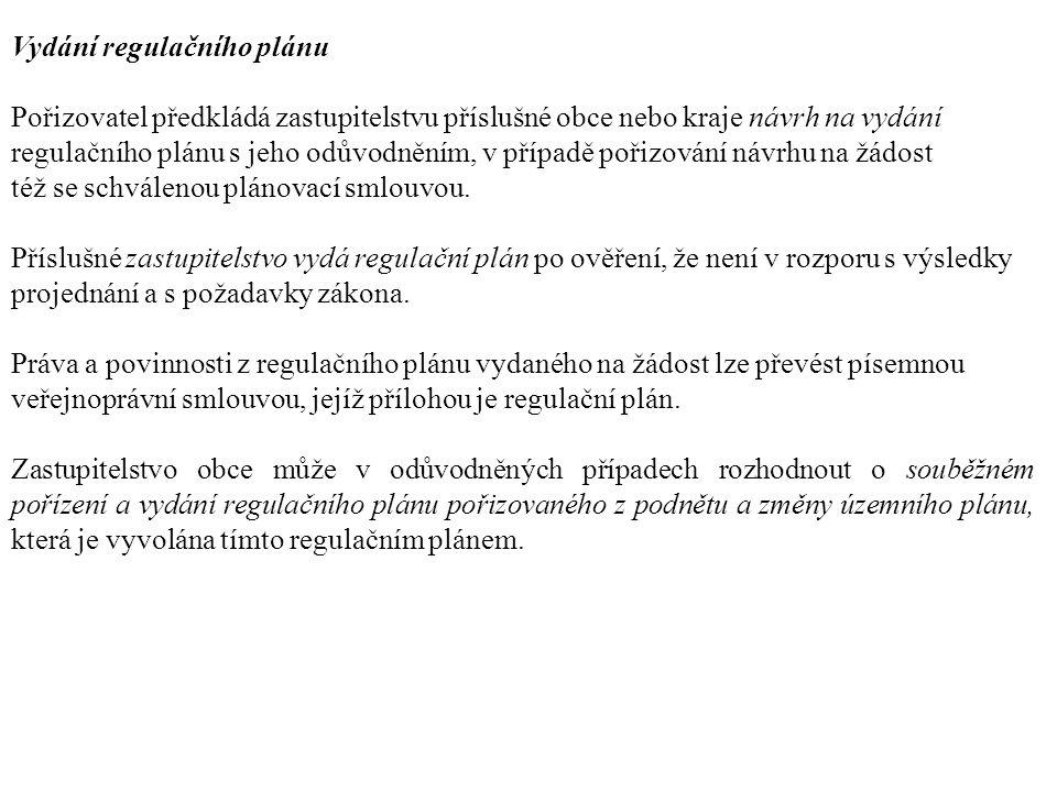 Vydání regulačního plánu