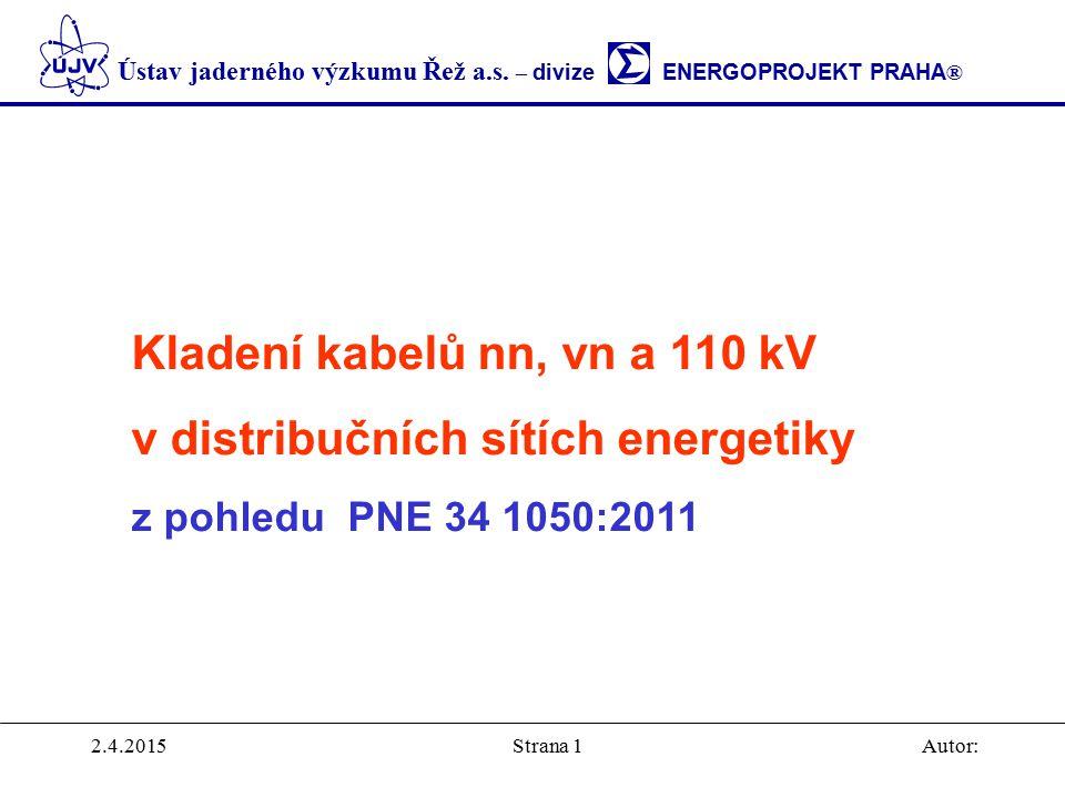 Kladení kabelů nn, vn a 110 kV v distribučních sítích energetiky