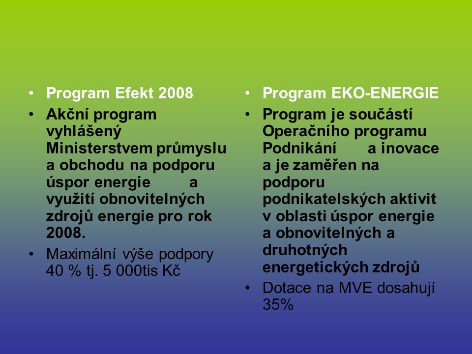Program Efekt 2008
