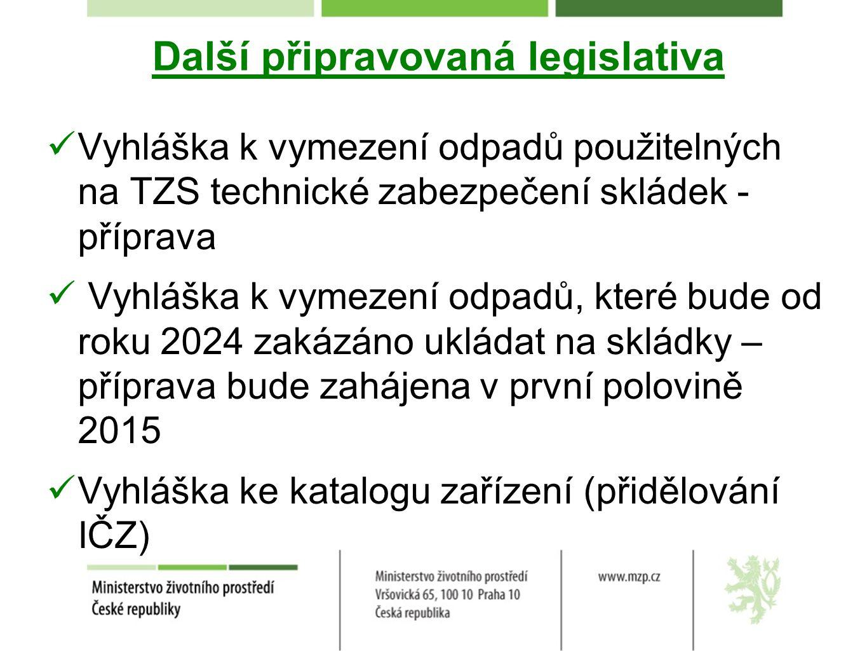 Další připravovaná legislativa