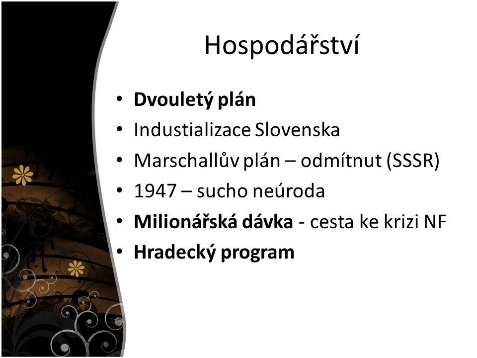Hospodářství Dvouletý plán Industializace Slovenska