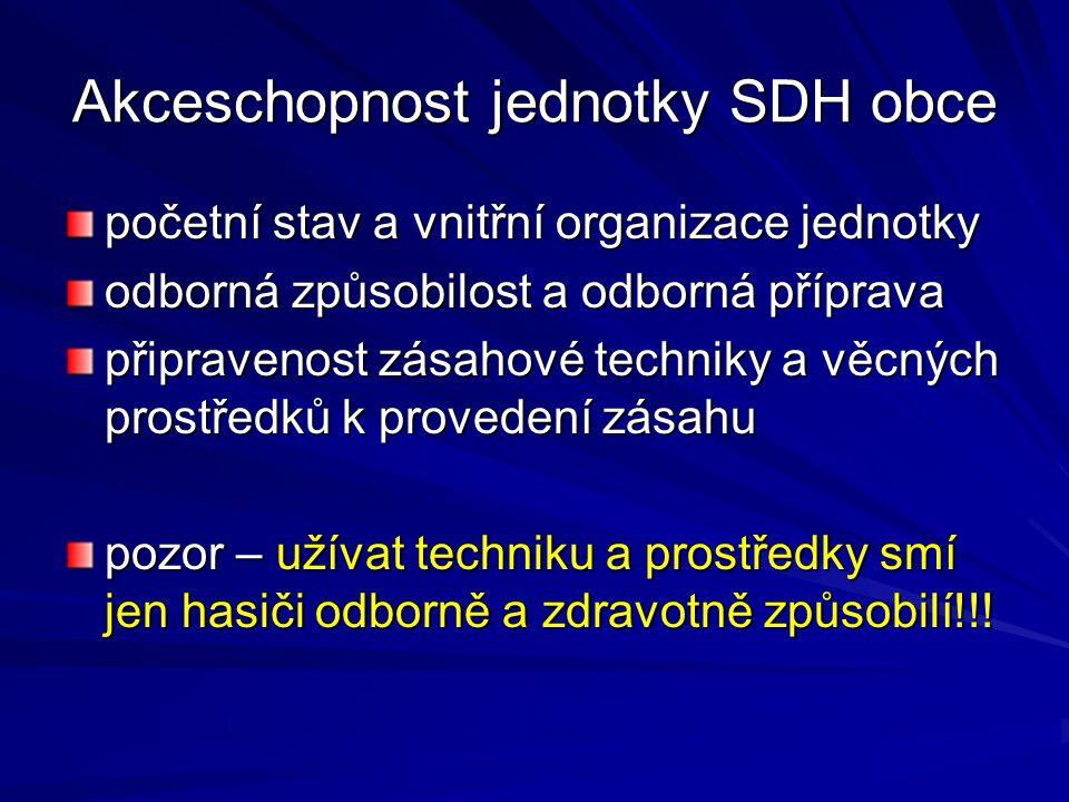 Akceschopnost jednotky SDH obce