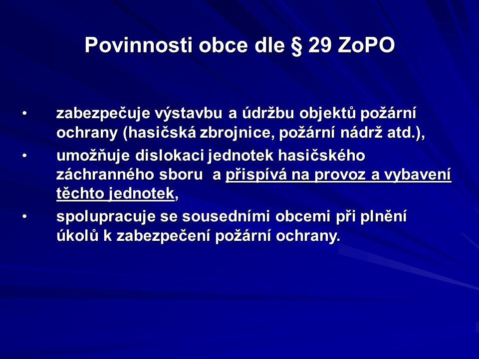 Povinnosti obce dle § 29 ZoPO