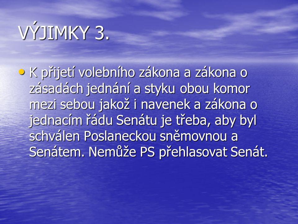 VÝJIMKY 3.