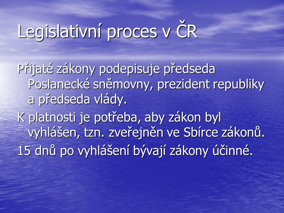 Legislativní proces v ČR