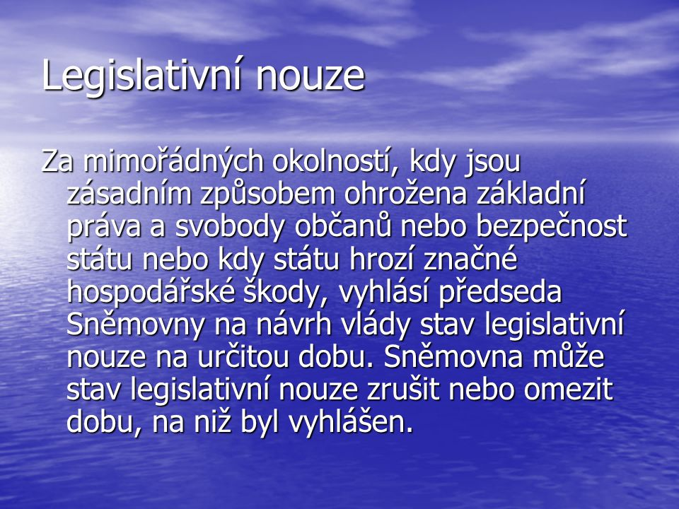 Legislativní nouze