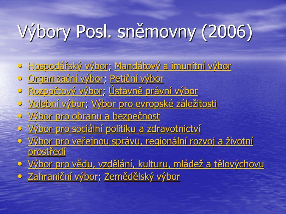 Výbory Posl. sněmovny (2006)