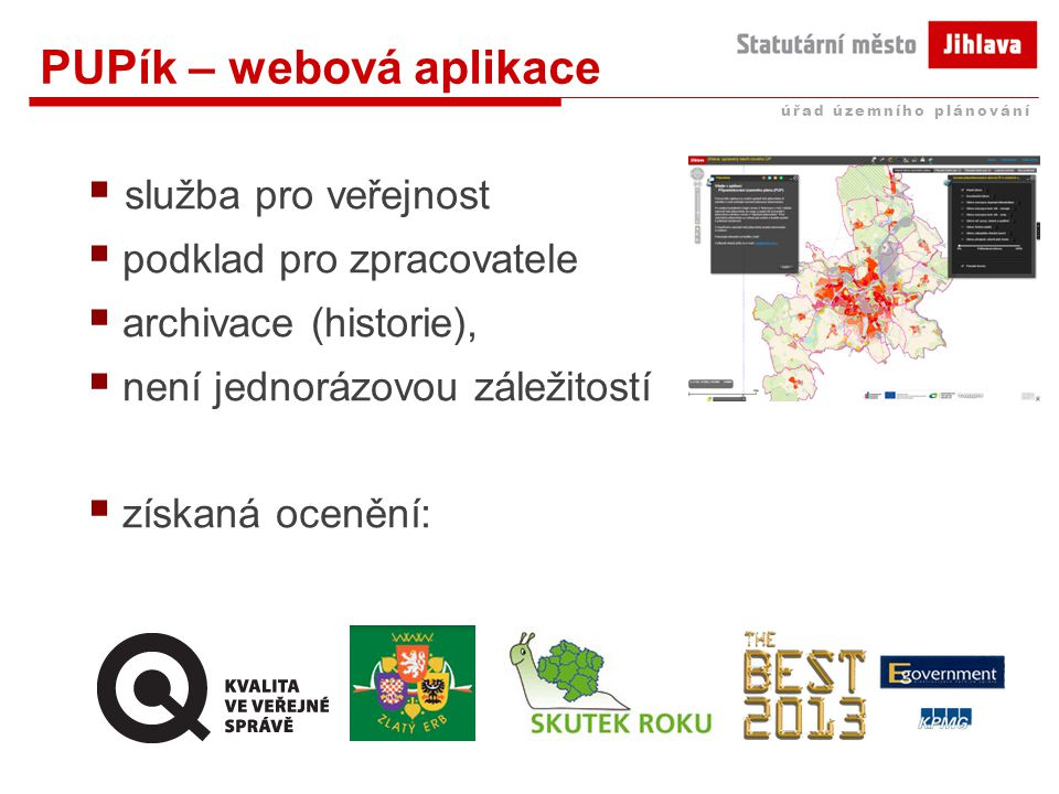 PUPík – webová aplikace