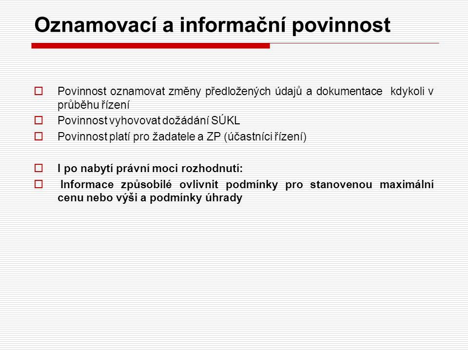 Oznamovací a informační povinnost
