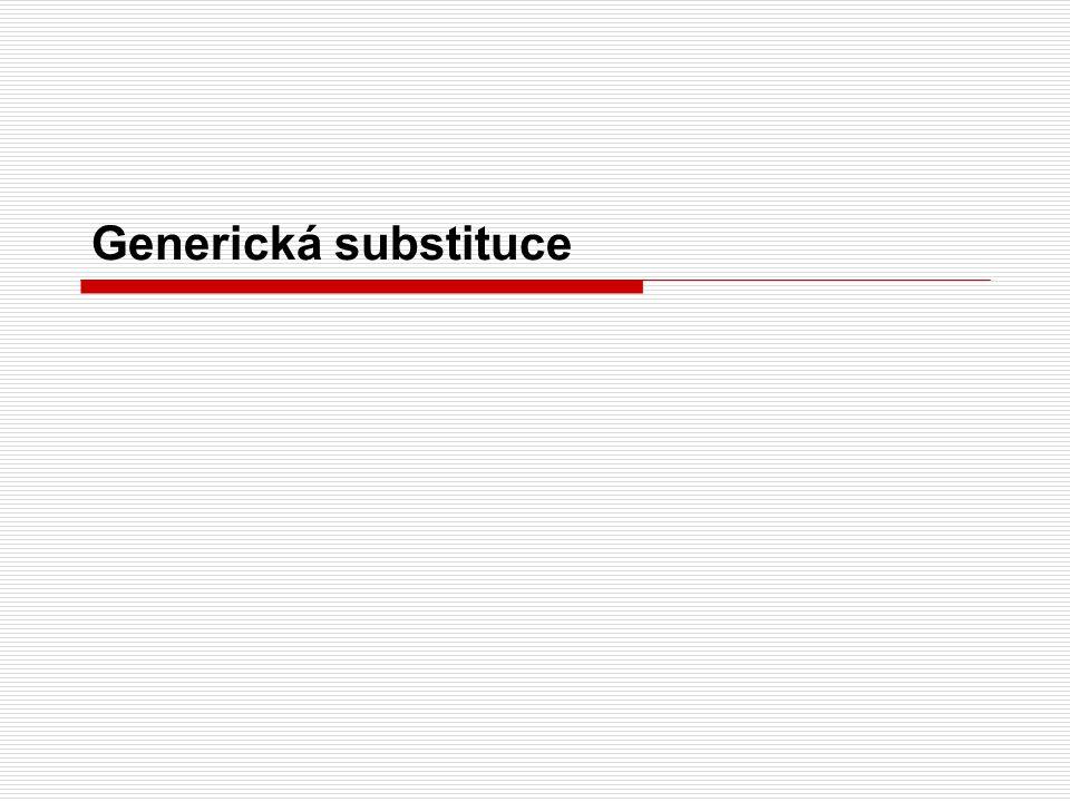 Generická substituce