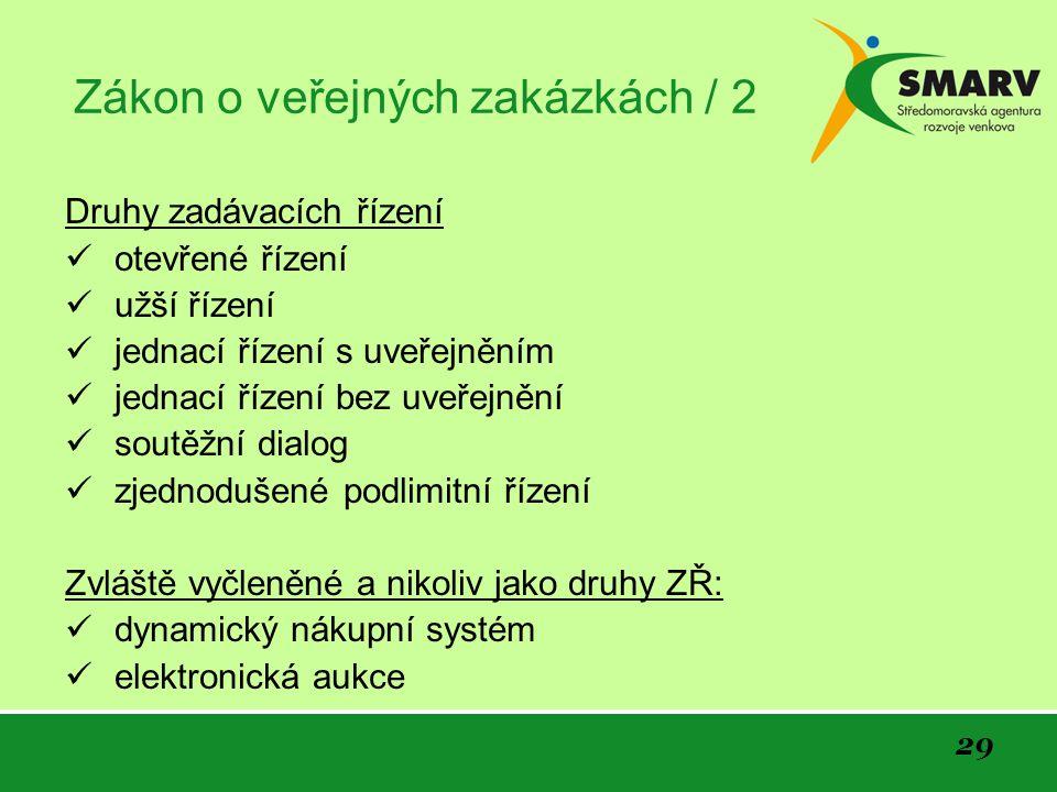Zákon o veřejných zakázkách / 2