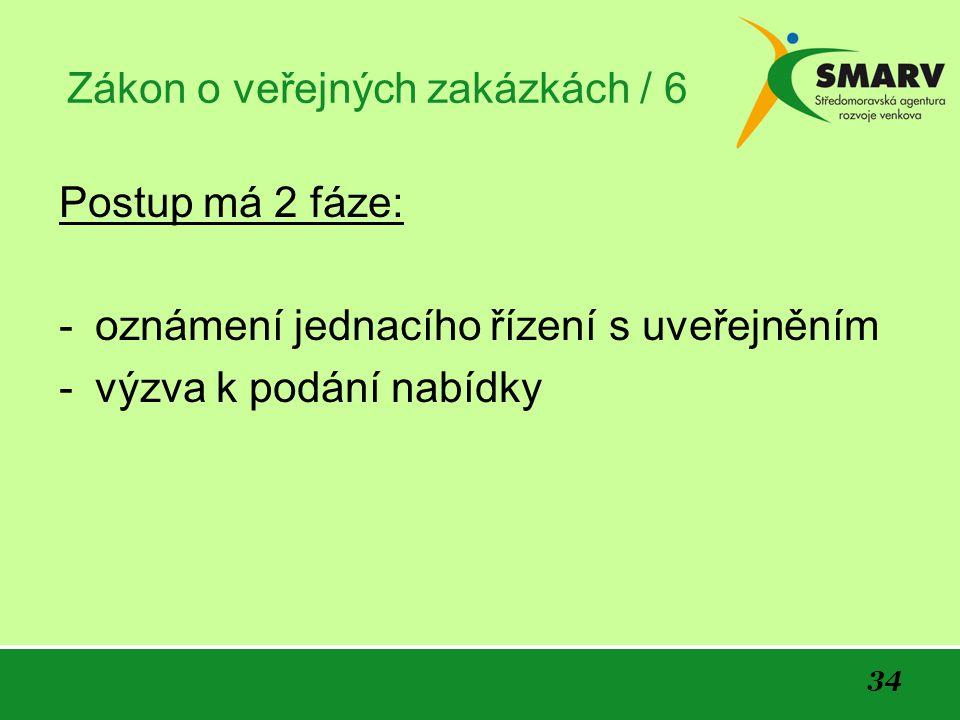 Zákon o veřejných zakázkách / 6
