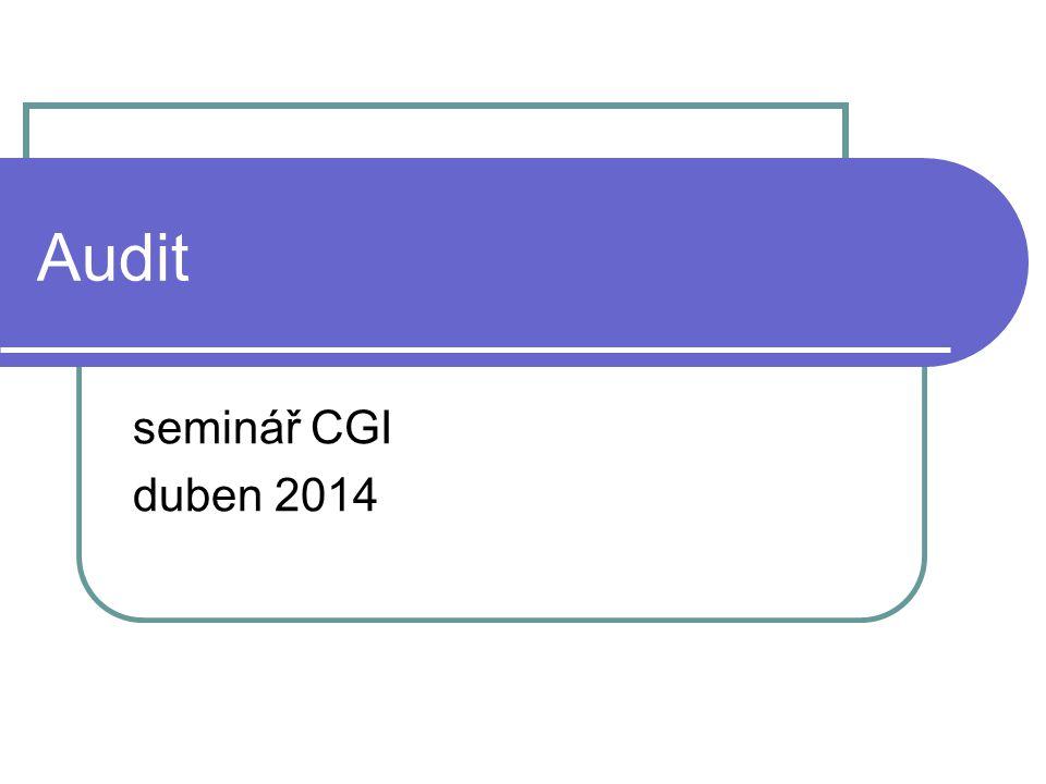Audit seminář CGI duben 2014