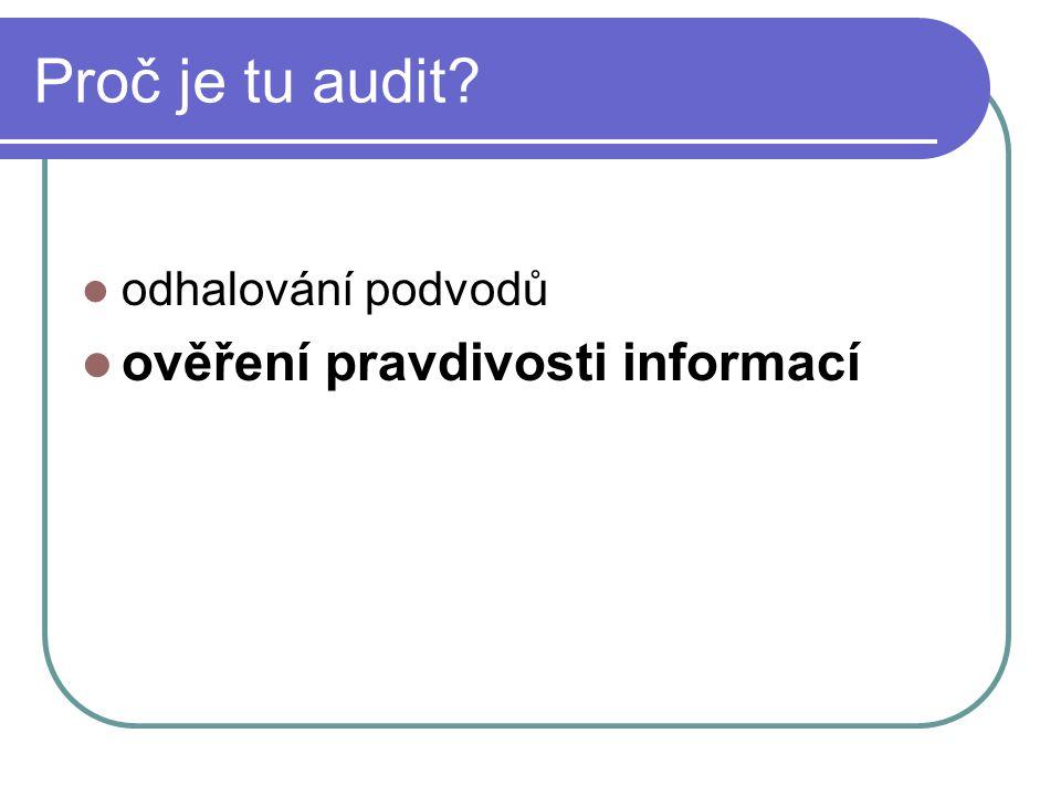 Proč je tu audit odhalování podvodů ověření pravdivosti informací