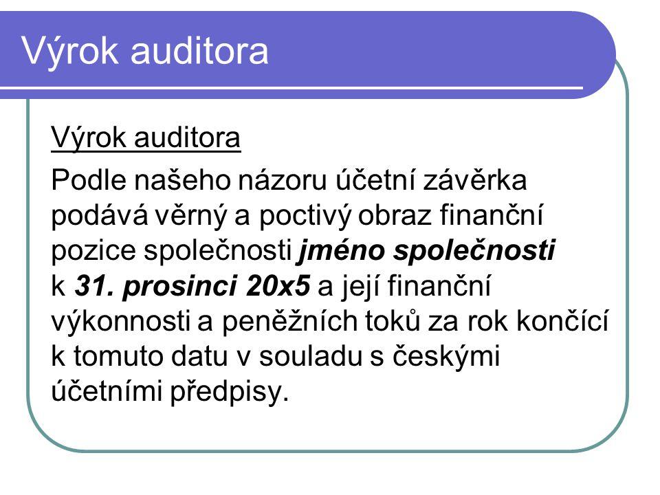 Výrok auditora