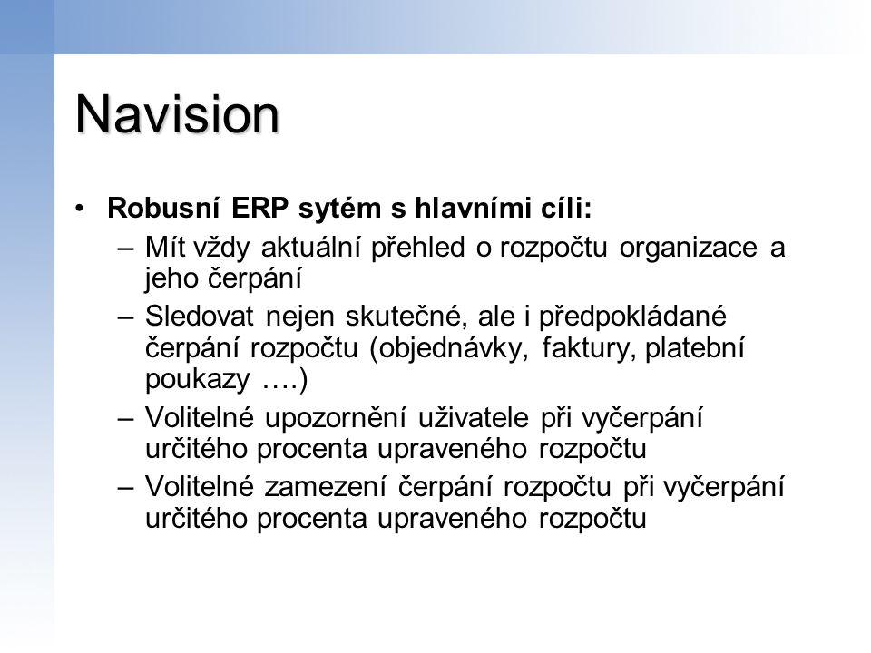 Navision Robusní ERP sytém s hlavními cíli: