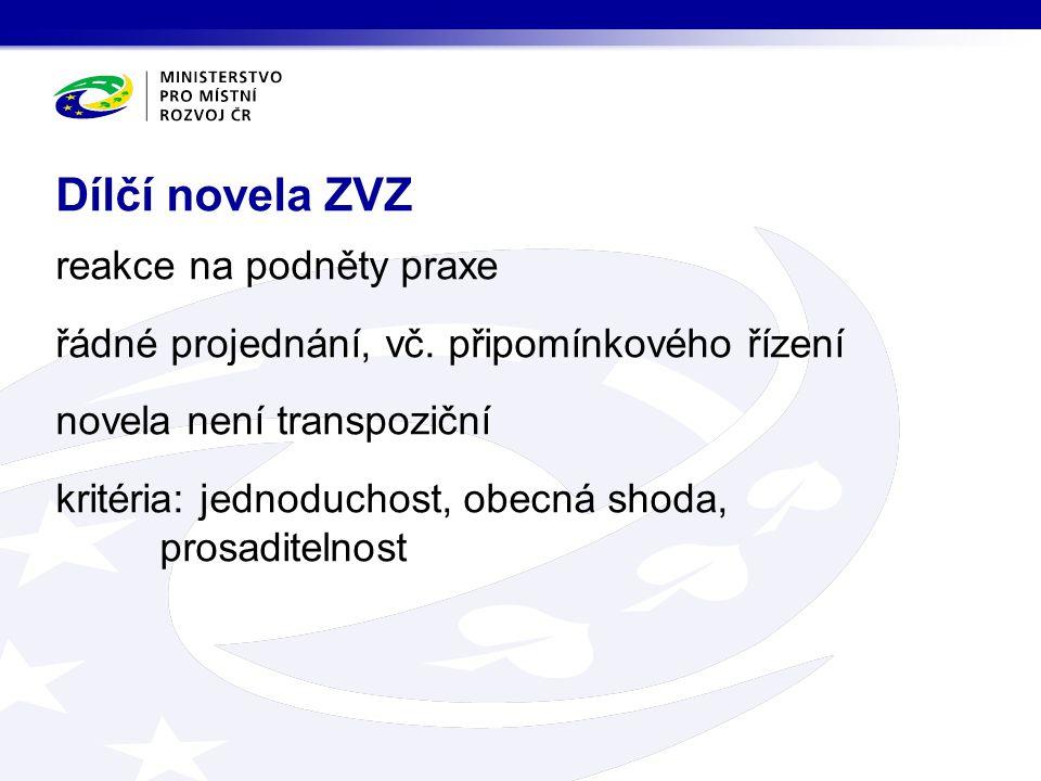 Dílčí novela ZVZ