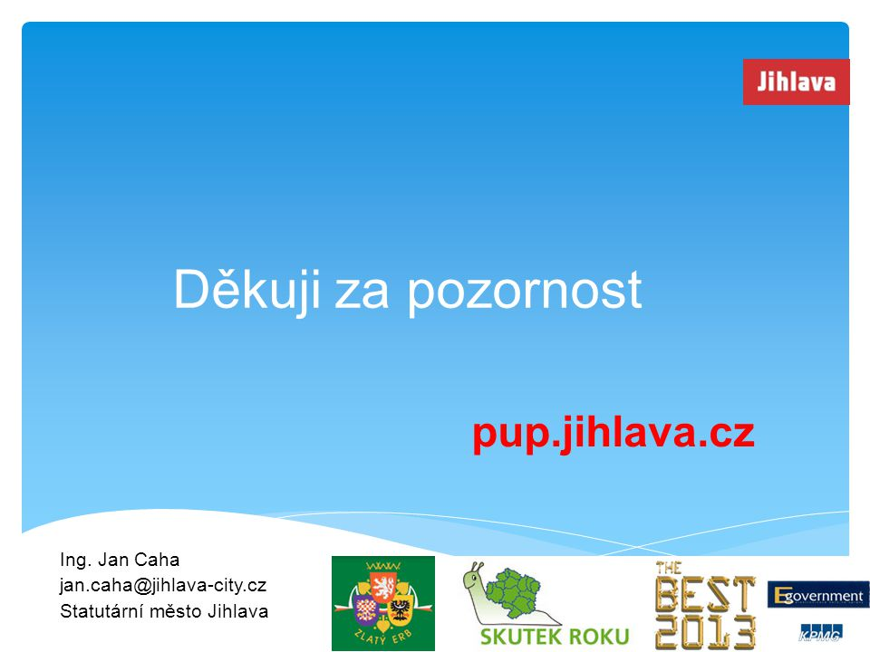 Ing. Jan Caha jan.caha@jihlava-city.cz Statutární město Jihlava