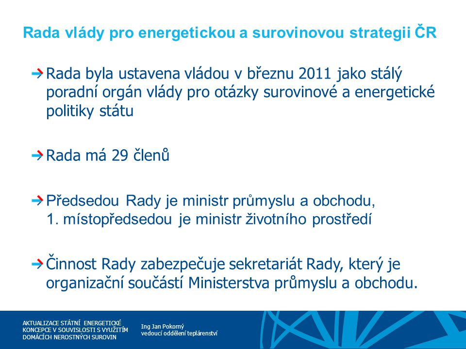 Rada vlády pro energetickou a surovinovou strategii ČR