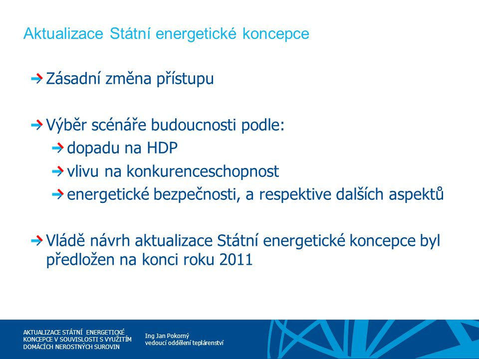 Aktualizace Státní energetické koncepce