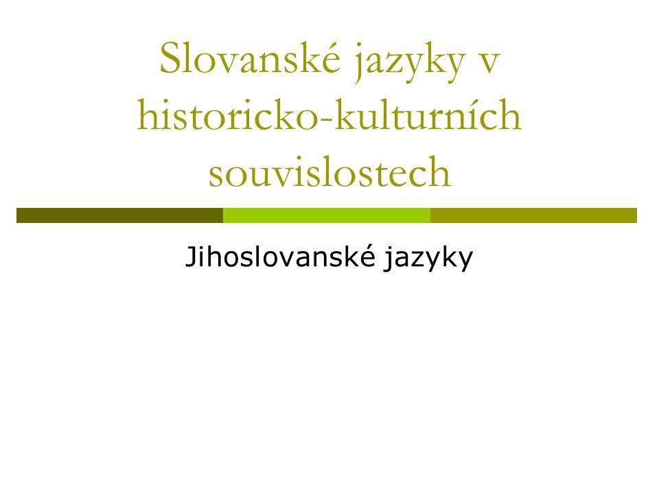 Slovanské jazyky v historicko-kulturních souvislostech