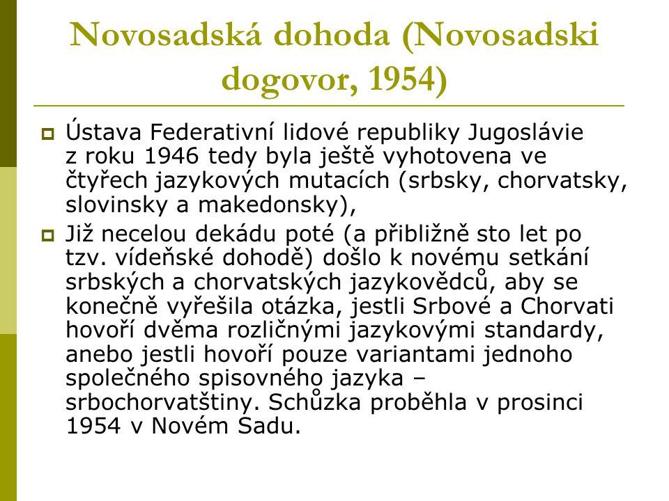 Novosadská dohoda (Novosadski dogovor, 1954)