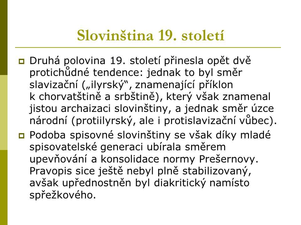 Slovinština 19. století
