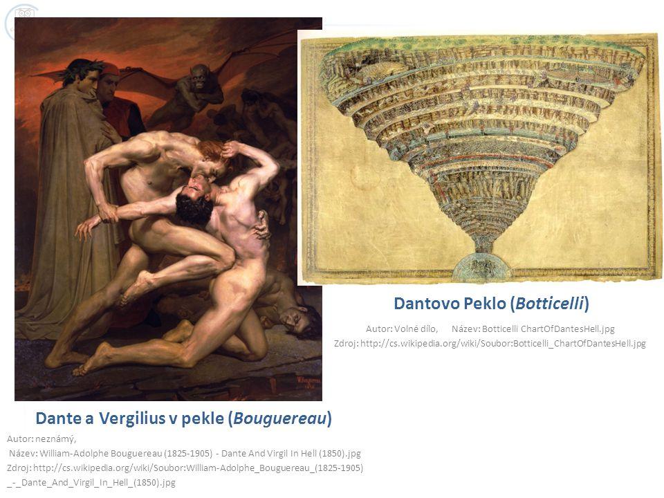 Dante a Vergilius v pekle (Bouguereau)