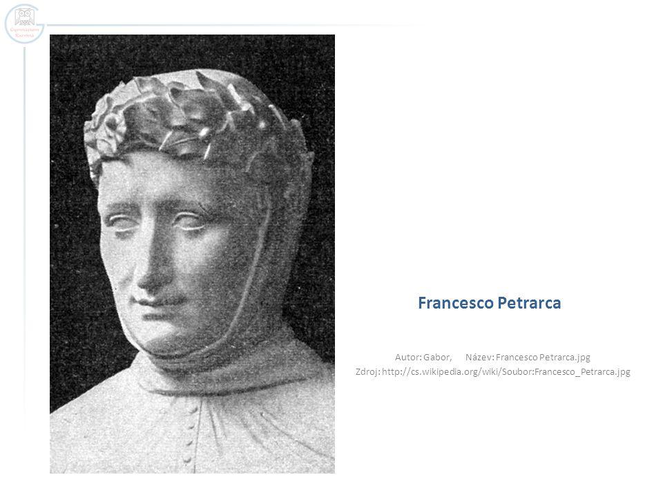 Francesco Petrarca Autor: Gabor, Název: Francesco Petrarca.jpg